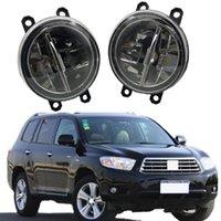 2 قطع (اليسار + اليمين) سيارة القيادة الجبهة الصمام الضباب ضوء لتويوتا هايلاندر الهجين الضباب / القيادة ضوء سائق الجانب 2008-2010