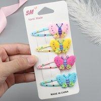 Hair Accessories Cute Children Baby Butterfly Clip Headwear BB Clips Korean Butterflys Hairpin Girls Cartoon Bang Barrettes