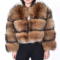 Maomaokong Winter Women Real Fur coat Natural fur Real Raccoon fur Jacket with Sleeves coats and jacket jacket 210902