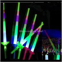 Другие события Праздничная партия Party Home GardendElescopic Glow Sticks Flash Up Игрушка Флуоресцентный меч Концертная деятельность Реквизит Рождественская машина