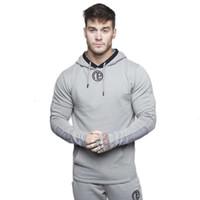 Erkek Spor Salonları Hoodie Spor Vücut Geliştirme Uzun Kollu Hoodies Erkekler Katı Sling Kazak Erkekler Track Suit Pamuk Egzersiz Spor Gömlek