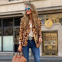 Leopard Print Windshield Small Suit 2021 Spring autumn Decoration Body Long Fashion A Button-down Women's Coat Suits & Blazers