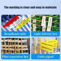 선물 랩 D11 / D61 케이블 라벨 인쇄 스티커 단일 행 통신 네트워크 레이블 종이 EF