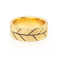 VAROLE Punk Rock Texture Ring Gold Color Simple Finger Rings For Women Men Fashion Jewelry Dropshipping