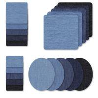 20 قطعة / المجموعة أدوات الخياطة الدنيم بقع للجينز كيت 4 ظلال من الحديد الأزرق على جين تصحيح الملابس إصلاح