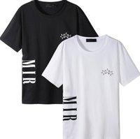 M-4XL printing pattern men's t shirt Largete size loose fashion personality SS21 men design shirts women's short high quality black and whi #006