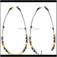 Kolye Kolye JewelryStatement Ins Ambush 925 Sier Kare Mektuplar Renkli Sırlı Boncuk Basit Charm Kadınlar Için Basit Charm Hip Hop Çiftler Takı