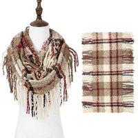 Мода Cashmere Зимний шарф для женщин Шерстяная пледа Одеяло теплые обручки и шарфы