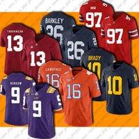 NCAA College 16 Trevor Lawrence Jersey Football 9 Joe Burrow 13 Tua THAYOVAILO Jerseys 10 Tom Brady 26 Saquon Barkley 97 Nick Bosa Jersey