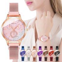 Designer Luxury Brand Watches Rhinestone Pärlor Kvinnor Es Fashion Magnet Clasp Lås Damer Quartz Aristes Reloj Mujer Zegareek Damski