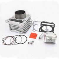 Geri / Gümüş Motosiklet Silindir Piston Rebuild Kit Keeway RKV125 RKS125 RKV RKS 125 EGR STD BÜYÜK BORE 125CC 150cc Motor Montaj
