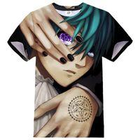 Black Butler T-shirt Anime 3D-tryck Män Kvinnor Hip Hop Streetwear Sport Casual Tshirt Fashion O-Neck Kortärmad Skjorta Toppar
