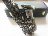 Strumenti musicali dell'Alto Sax professionale Suzuki Alto Sassofono E Black Plat Black Nickel Placcato Sax e cassaforte