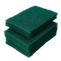 Dunkelgrüner langlebiger Schwerlastscheiben-Pad Allzweck-Peeling-Schwamm-Scheuerung Nicht-Scratch-Topf-Scrubber-Reinigung DHA5087