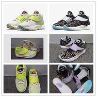 Kevin Durant KD 14 14 S Erkek Basketbol Ayakkabı Siyah Ve Beyaz Yeşil Renkli Erkekler KD14 XVI Eğitmenler Zoom Elite Spor Sneakers ABD 40-46