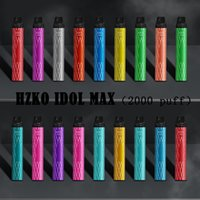 Authentic HZKO IDOL MAX Disposable Pod E-cigarettes Device Kit 1100mAh Battery 2000 Puffs Prefilled 6.5ml Cartridges Vape Pen Genuine Vs Plus Bar