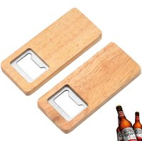 Wood Beer Bottle Opener Stainless Steel With Square Wooden Handle Openers Bar Kitchen Accessories Party Gift wholesale