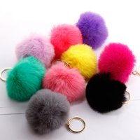 2021 Multi Color Pink Rabbit Fur Ball Home Keychain Bag Plus...