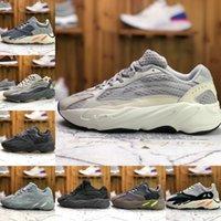 Alta qualità Kanye 700 Inertia Mens Scarpe da corsa Ovest V2 V3 380 Wave Black Static Runner MNVN Solido Grey Magnete Bone Teephra Geode Sneakers da donna