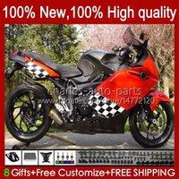 Fairings +Tank cover For BMW K1200 K 1200 S 1200S K1200S 05 06 07 08 09 10 Bodywork 28No.5 K-1200S 2005 2006 2007 2008 2009 2010 K1200-S 05-10 Motorcycle Bodys Glossy red