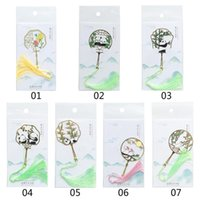 Bookmark 1 Pcs Chinese Style Calligraphy Painting Fan Book Clip Pagination Mark Metal Tassel Stationery School Office Supply