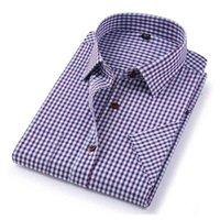 Davydaisy 도착 여름 남성 셔츠 반팔 격자 무늬 스트라이프 패션 작업 캐주얼 셔츠 남자 공식 셔츠 DS227 210520