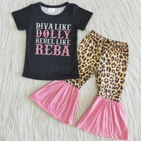 Baby Girls Designer Clothes Short Sleeve Top Bell Bottom Pants Spring Summer Outfits Fashion Boutique Kids