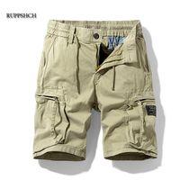 Ruppshch Hommes Summer Casual Outdoor Military Pocket Pantalon Pantalons Shorts Mode Twill Coton Camouflage 210721