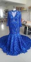 2021 Старинные длинные русалки выпускные платья с длинным рукавом с 3d цветы формальные вечерние платья на заказ