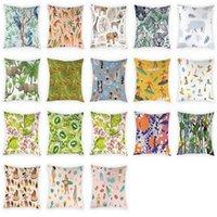 Poduszka / dekoracyjna poduszka strój kąpielowy znaki wzoru pokrywa dekoracyjny nosorożec słoń brzoskwiniowy rzut skrzynkowy poduszki 45x45 cm