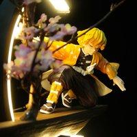 Слайер Demon Figurine Nezuko Zenitsu Tanjirou Giyuu inosuke Q Ver. Действие фигурки игрушки со светодиодным эффектом кимецу нет Yaiba PVC игрушка