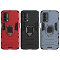 Scintillating Glittering Cell Phone Cases Ring Stand Rugged Combo Hybrid Armor Bracket Impact Holster Cover For Oneplus Nord N200 5G