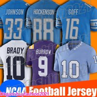 16 Jared Goff Jersey NCAA College Football 32 D 'Andre Swift Jerseys T.J. Hockenson 30 Jeff Okudah Jersey 33 Kerryon Johnson Tyrell Williams