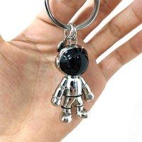 패션 수제 3d 우주 비행사 공간 로봇 우주자 키 체인 열쇠 고리 합금 선물 남자 친구에 대 한
