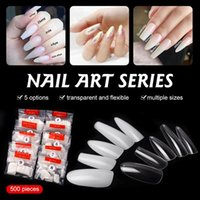 False Nails 500pcs Fake Nail Tips Natural Covers French Style For DIY Salon Perfect Gift Women High Recommend