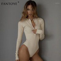 Fantoye Sexy Manches longues BodySuits Femmes 2021 Automne Hiver Noir Slim Jumpsuits Baldoyal Rompers Body Dames Body Tops1