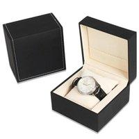 Watch Box PU Leather Wristwatch Display Case with Pillow Portable Storage Organizer for Gift Bracelet Watch Jewelry Box