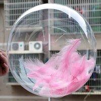 50 ADET Hiçbir Dokaşırı Şeffaf PVC Balonlar 10/18 Inç Temizle Kabarcık Helyum Globos Düğün Doğum Günü Partisi Dekor Helyum Balonlar Çocuk Oyuncakları Topu