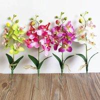 Творческий искусственный цветок Phalaenopsis орхидея Silk Real Touch Butterfly свадьба дома украшения декоративные цветы венки
