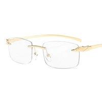 69٪٪ ضفي بدون شفة الذهب النظارات إطارات الذكور النساء أزياء النظارات للرجال نظارات فرملس ليوبارد العلامة التجارية مصمم JXP1