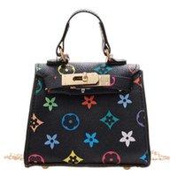 Retro Flor Kelly Bag Miúdos Meninas Mini Handbag Tik Tik Designers Estilo Chain Sacos Crossbody Fanny Pack Pu Couro de Couro Bags Bolsas De Bolsas De Jantar G73ru6r
