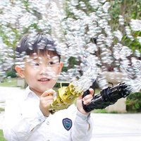 Novelty Games Kids Gatling Bubble Gun Toys Summer Automatic Soap Water Machine For Children Toddlers Indoor Outdoor Wedding toy