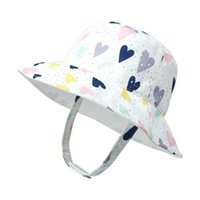 Caps & Hats Children Adjustable Cute Printed Basin Baby Hat Fisherman Sunscreen Children's Clothes Casual Kids Sets