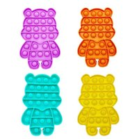 100 teile / dhl Bär Körper Bubble Poppers Board Silikon Zappeln Spielzeug Sensorisch Push Pop IT Desktop Finger Puzzle Poo-Sein Spiel Stress Relief H41PDHC