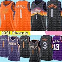 2021 devin 1 Booker Jersey Chris 3 Paul Trikots Steve 13 Nash Retro Mesh Basketball S-XXL Orange Black Purple White Stickerei Logos