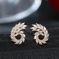 Stud DE338 Street Snap-Style Elegant Delicacy Creative Zircon Earring Gift Party Banquet WOMEN'S Jewelry Earrings