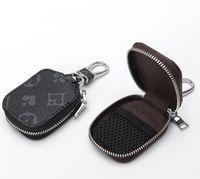 Car Key Case Male PU Leather Keys Holder Women Smart Housekeeper Zipper Keychain Case Car Key Pouch Bag Car Key Wallet
