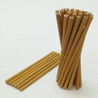 Riutilizzabile Colore Giallo Giallo Natural Bamboo Bere cannucce Eco Amichevole Caffè artigianale Caffè Milk Tè Paglia 20cm