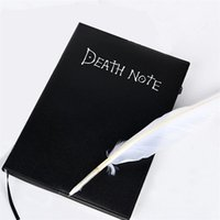 Death Notebook Note Book Cosplay Journal Diary Feather Theme Anime Skriva Pen Art 210611