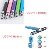 MOQ 5PCS Autêntico UGO-V II 2 510 Fio Vape Pen Baterias Ugo V3 Variável Tensão Variável Kit de bateria de pré-aquecimento EVODO VV EGO T Micro USB Passthrough Ecigs